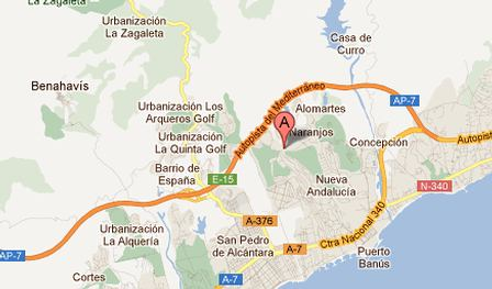 Location of Nordica Rentals & Sales Marbella